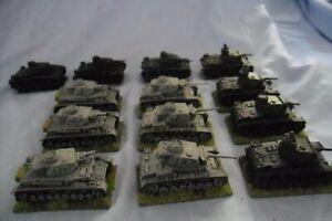 Flames of War German Panzer Tank Panzer III and Panzer IV LOT of 14 tanks