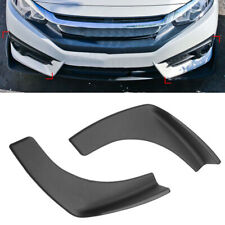 1 Pair Black Universal Fit Front Rear Bumper Lip Splitters Winglets Canards ABS