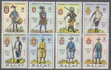 MACAU 1966 COMPLETE SET MILITARY UNIFORMS Mi. 432-439 PORTUGAL COLONIES -**MNH**
