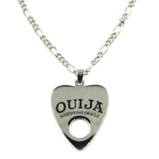 Stainless Steel Tone Ouija Board Planchette Necklace - Goth Halloween Horror