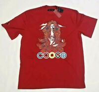 RARE New With Tags COOGI Australia Mens T-Shirt Big Embroidered Logo Red XL