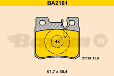 Bremsbelagsatz, Scheibenbremse BARUM BA2161 hinten für MERCEDES-BENZ