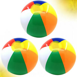 3pcs Deflatable Beach Balls Fun Water Toys for Adults Students Kids