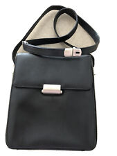 Mandarina Duck Black Leather Shoulder /Cross Body bag. As New Condition