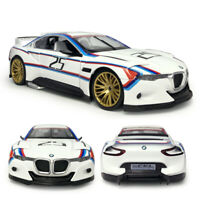 1/24 BMW 3.0 CSL Hommage R Coupe Model Car Diecast Toy Vehicle White w/ Light