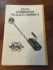 Vtg Coinmaster Tr (Agc)Series 2 Metal Detector Instruction Operators Manual Book
