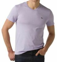 Lacoste Men's Sport Athletic Cotton V-Neck Shirt T-Shirt Iris Th6604