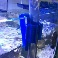 2X Plastic Aquarium Tank Water Pipe Clamp Hose Tube Rod Fixing Clip Mount Holder