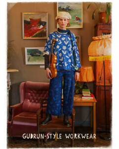 BNWT *Gudrun Sjoden* organic cotton jersey Violin wide leg trousers XL