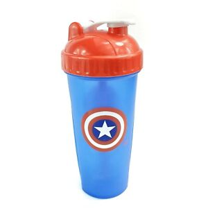 Perfect Shaker Captain America Mixer Bottle Protein Water Fitness Bodybuilding