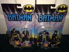 Batman Joker + Battle Scars Batman Catwoman Batman Animated DC Mattel 2002 MISP!