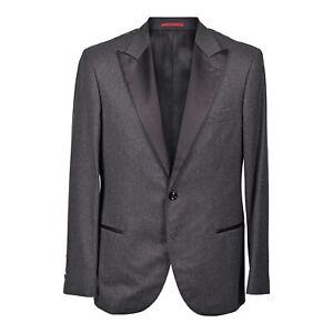 Brunello Cucinelli Men's Cashmere Blend Charcoal w/ Black Lapel Tuxedo NEW