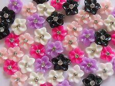 "12pcs x 3D Nail Art Acrylic Rhinestone Flowers ""Daisy"" & Bows Mix Nail Craft"