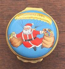 Halcyon Days Christmas 1999 Painted Enamel Box
