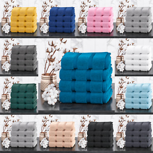 Nella Milan 100% Egyptian Combed Cotton 4 Pack Towels Soft Guest Towel 600GSM