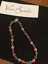 "Viva  Jewelry Necklace  "" TANGO "" Large Size Beads NWT"