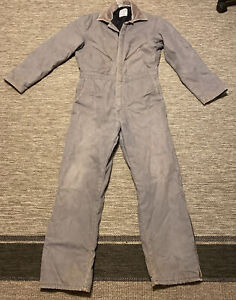 Vintage WALLS Zero Zone Coveralls Men's Medium Lined Insulated Outerwear Gray