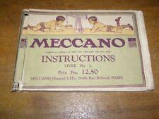 Ancien livre d'instruction Meccano:  Livre N°1, 198 pages