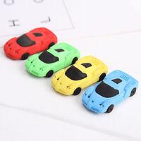 EG_ LK_ 3x Cute Car Shape Eraser Rubber Stationery Kid Gifts Toy School Supplies