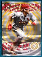 2019 Topps Stadium Club Warp Speed 5X7 Harrison Bader WS-5 Gold #09/10 Cardinals