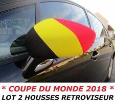 PACK 2 HOUSSES RETROVISEUR VOITURE DRAPEAU BELGIQUE BELGE No fanion maillot ...