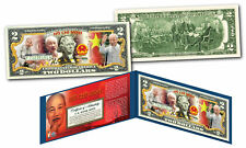 HO CHI MINH * Vietnam Icon & Leader * OFFICIAL Colorized Genuine U.S. $2 Bill
