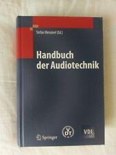 Handbuch der Audiotechnik von Stefan Weinzierl (2008, Gebundene Ausgabe)