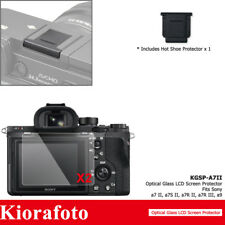 2PCS Tempered Glass Screen Protector+Hot Shoe Cover fr Sony A7II A7SII A7RII A9