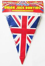 GB Union Jack Buntings 7M/25 Pendant Triangular Flags British Union Decor Banner