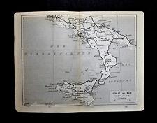 1909=Topografic Plan ITALIE DU SUD- ITALIA.Dufrenoy.Thuillier.Passepartout.ETNA