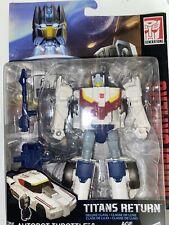 Transformers Titans Return TR Deluxe Class Autobot Throttle & Autobot Breakaway