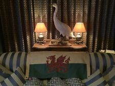 More details for welsh flag / red dragon passant double sided flag ( 101x 50cms )