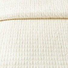 Hearth & Hand Magnolia Textured Stripe Quilt FULL QUEEN SOUR CREAM COVERLET NEW