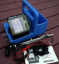Eagle Magna III 3 Fish Finder W/ Transducer + Cords & Genz Ice Box