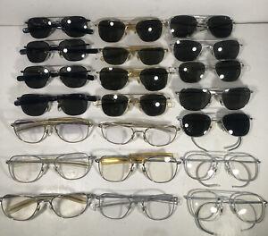 Lot Of 21 AO American Optical Aviator Eyeglasses/Sunglasses EB