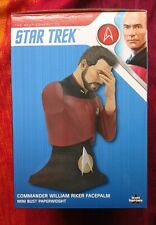 More details for san diego comicon exclusive - star trek face palm riker bust - 340/1701- new