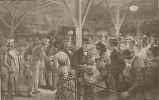 Iron Pier Coney Island. Rush For Last Boat. Ferry. Harper's Weekly 1882