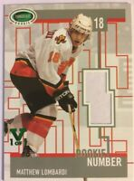 2003-04 Parkhurst Rookie Game-Used Number Patch Matthew Lombardi Vault Green 1/1