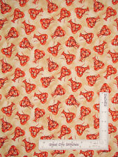 Nautical Lobster Crustacean Toss Tan Cotton Fabric Windham High Tide By The Yard