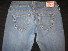 True Religion Womens Jeans Johnny Low Slim Straight Leg Distressed Sz 26