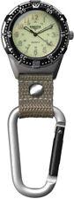 Dakota Back Packer Clip Watch Tan Aluminum Water Resistant 3867