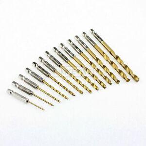 13x HSS Drill Metal Hex Shank Bits Set Titanium Coated 1.5mm - 6.5mm New
