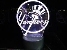 New York Yankees Light Up, Night Light, Lamp LED With Remote and Personalized