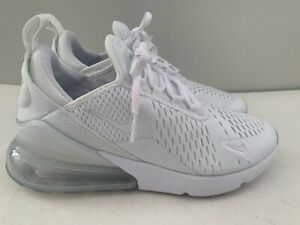 Nike Air Max 270 Youth Boys Size 7 White Tennis Shoes