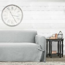 Farmhouse Basketweave Sofa Slipcover - Sure Fit GREY