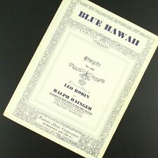Blue Hawaii Sheet Music Arranged for Hawaiian and Electric Guitar Voice 1937