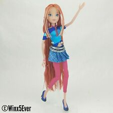 Jakks Pacific Winx Club Rock Concert Bloom Custom OOAK Reroot Fashion Doll!