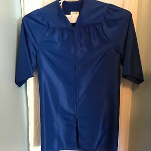 "Jostens Blue Graduation Gown For Graduation Size 5'4"" - 5'6"" 100% Polyester"