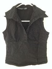 Womens Sleeveless Collar Top by Speed Star Size S Small EUC!