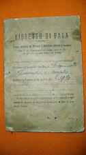 1933 VECCHIO LIBRETTO DI PAGA IN CARTONATO CON LE SUE 32 Pp. ORIGINALE AOSTA